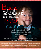 Back to School Mini Sessions 2016