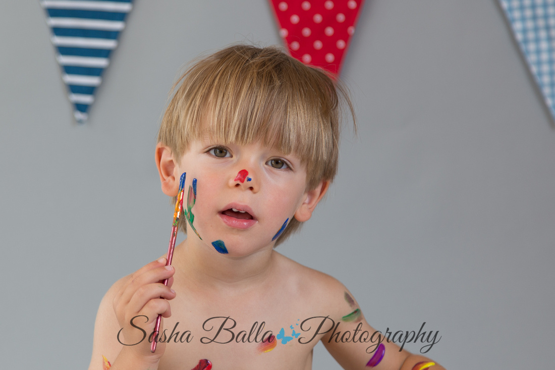 Paint splash, Children, maternity, newborn, cake smash Photographer Essex